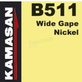 B511 WIDE GAPE NICKEL HOOKS