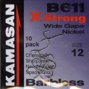 B611 Barbless Hooks